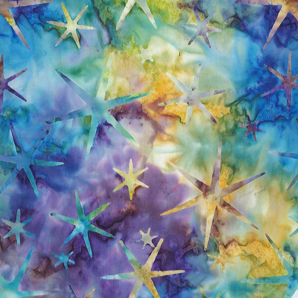 CABA-1028 155 - STARRY NIGHT BY SHANIA SUNGA PURPLE/BLUE/TEAL/YELLOW-Delivery October 2020