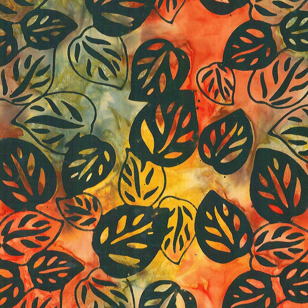 CABA-1035 565 - BAY GRAPE LEAVES BY SHANIA SUNGA YELLOW/ORANGE/GREEN/BLACK- Delivery October 2020
