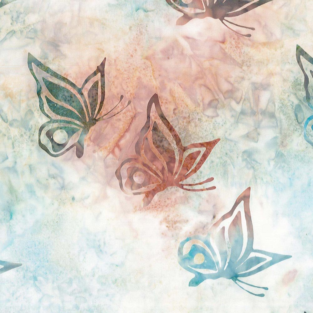 CABA-1038 876 - **BUTTERFLY SWIRL BY SHANIA SUNGA BLUE/PINK/WHITE/GREEN