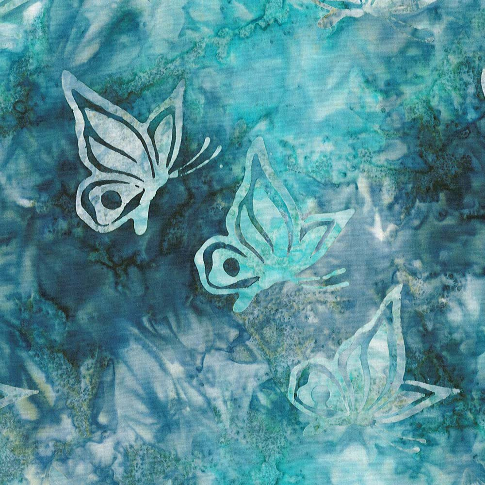 CABA-1038 880 - **BUTTERFLY SWIRL BY SHANIA SUNGA TEAL/BLUE INSPIRATIONS