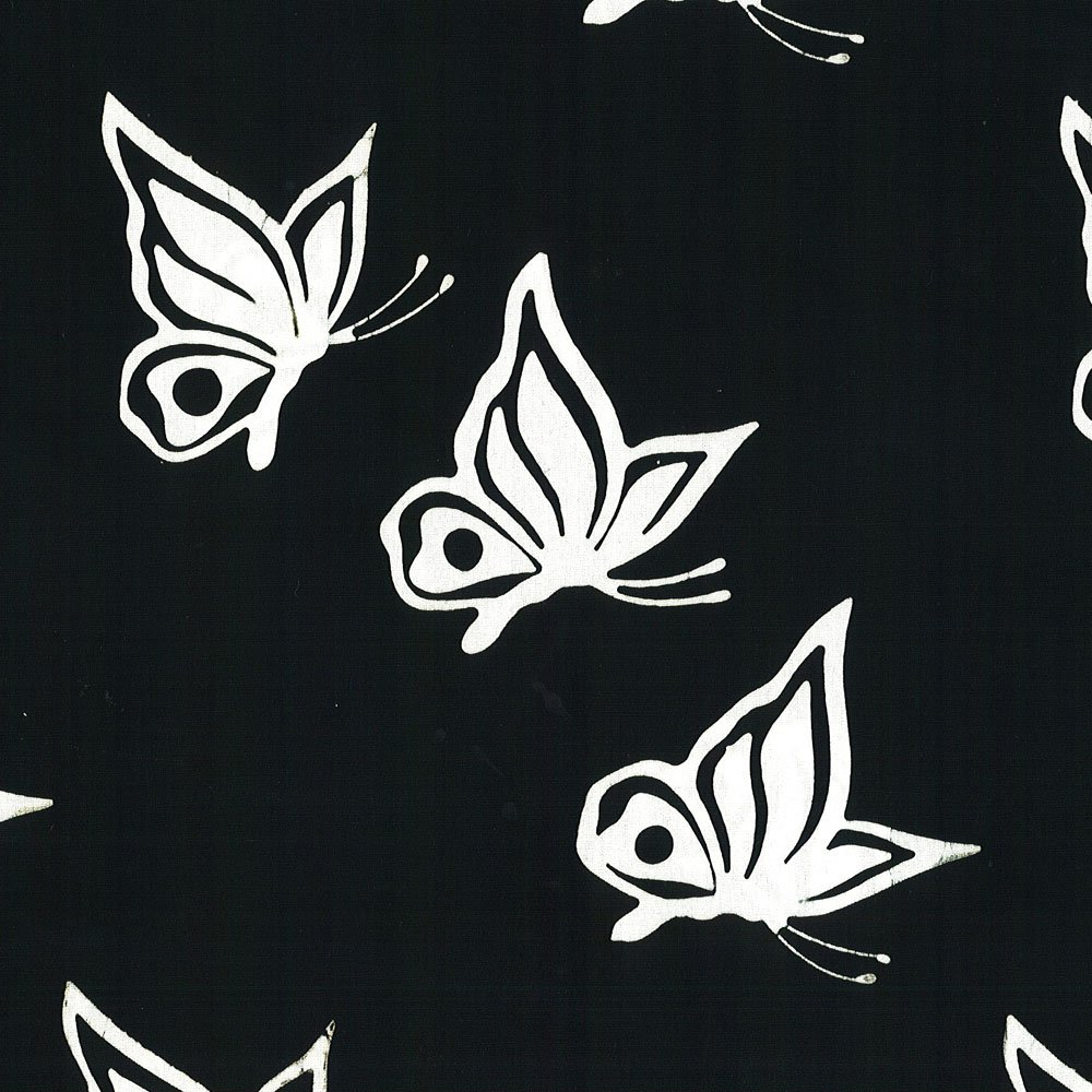 CABA-1038 999 - BUTTERFLY SWIRL BY SHANIA SUNGA BLACK WHITE