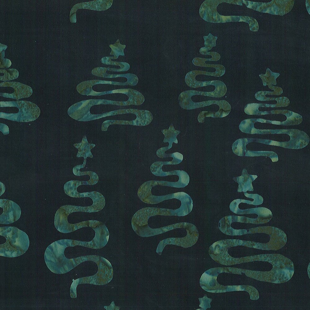 CABA-1050 997 - CHRISTMAS TREES BY SHANIA SUNGA GREEN/BLACK-Delivery October 2020