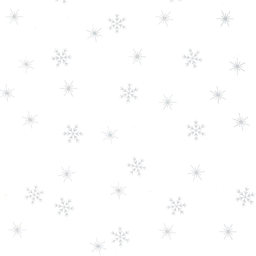 CABA-1053 001MS - SMALL SNOWFLAKES BY SHANIA SUNGA  WHITE/SILVER-Delivery October 2020
