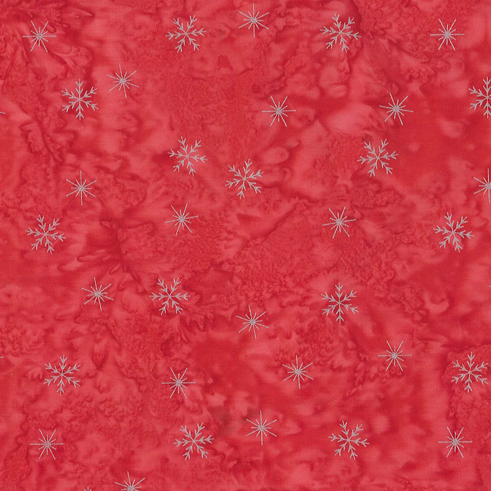 CABA-1053 353MS - SMALL SNOWFLAKES BY SHANIA SUNGA RED/SILVER-Delivery October 2020
