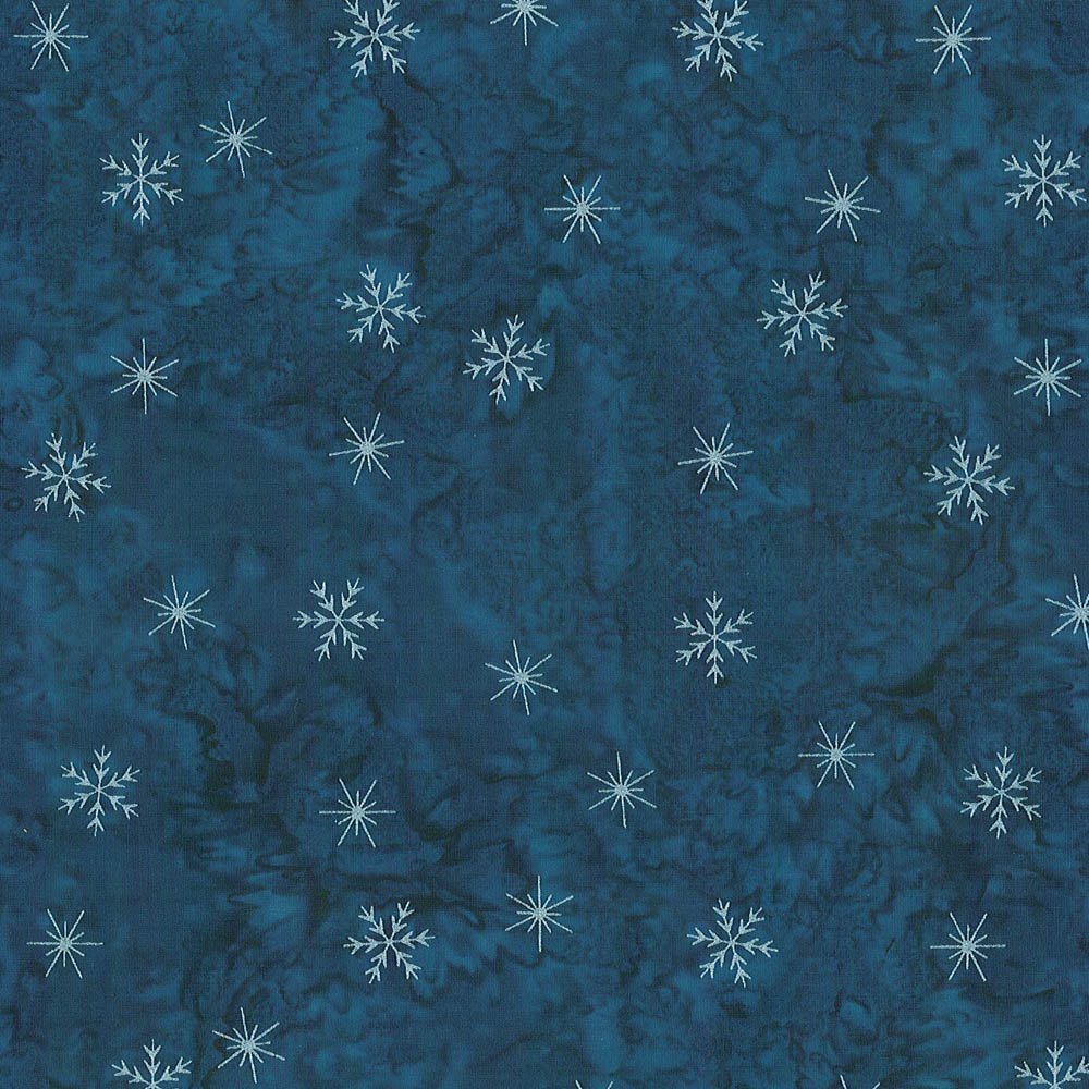 CABA-1053 490MS - SMALL SNOWFLAKES BY SHANIA SUNGA BLUE/SILVER-Delivery October 2020