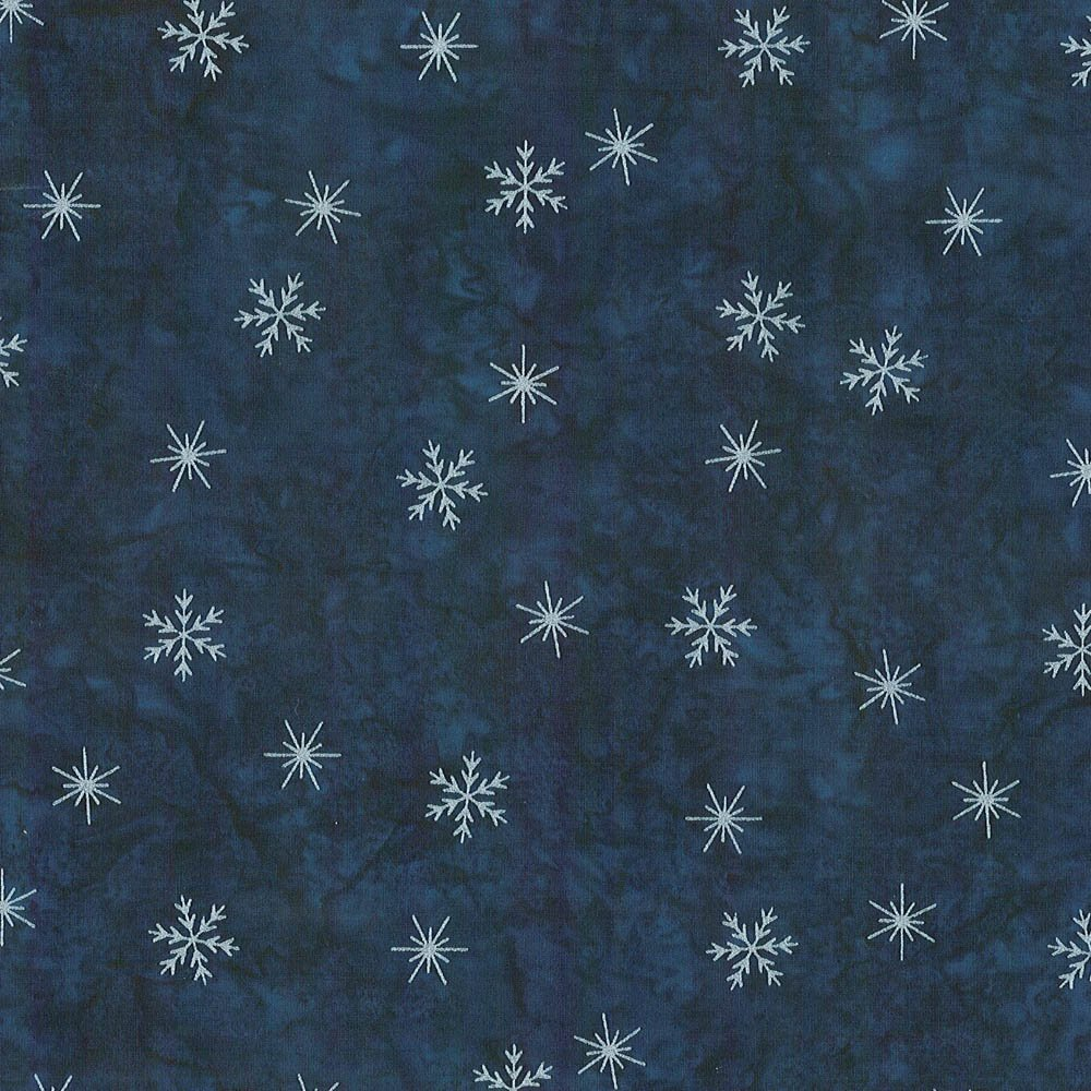 CABA-1053 491MS - SMALL SNOWFLAKES BY SHANIA SUNGA BLUE/SILVER-Delivery October 2020