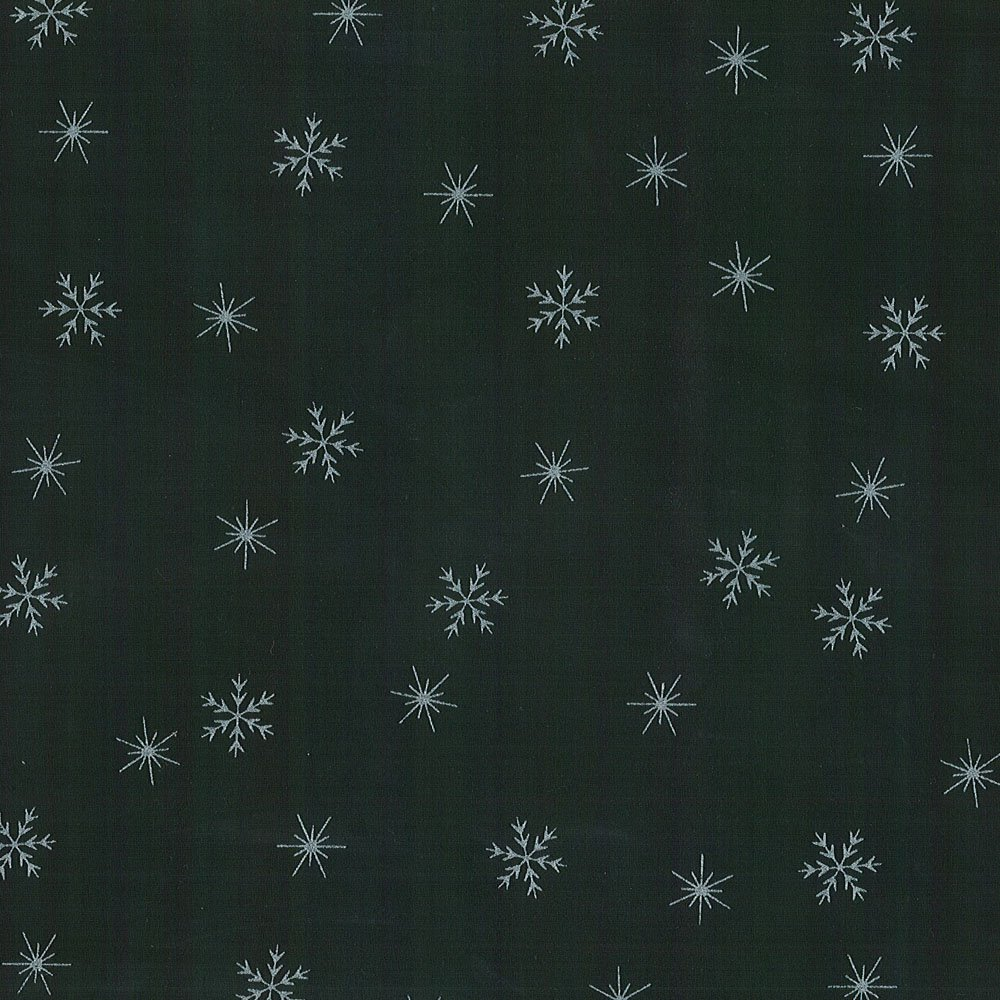 CABA-1053 999MS - SMALL SNOWFLAKES BY SHANIA SUNGA BLACK/SILVER-Delivery October 2020