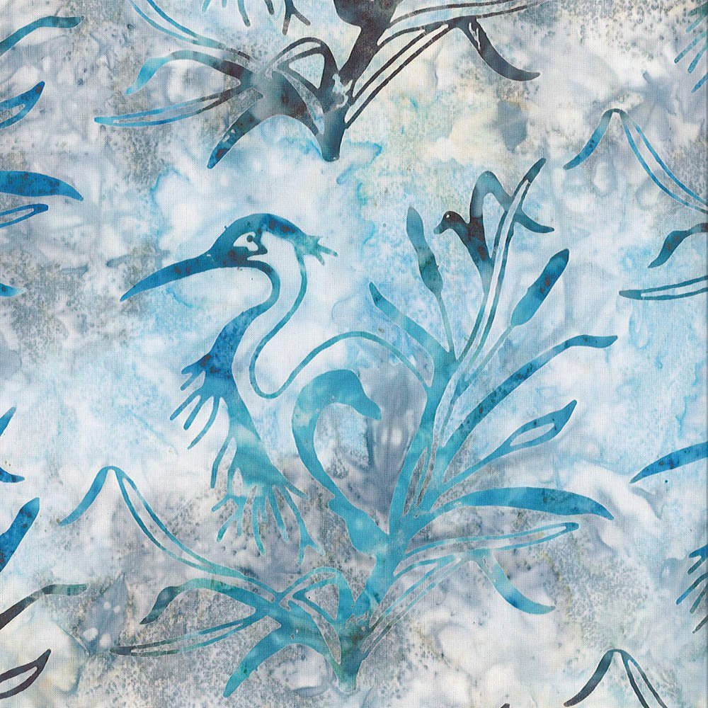CABA-1061 804 - **GREAT BLUE HERON BY SHANIA SUNGA TEAL GREY