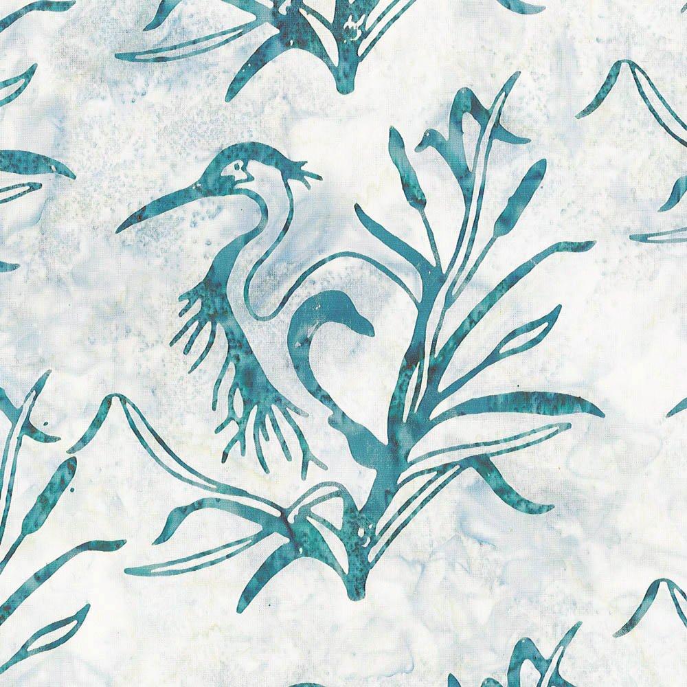 CABA-1061 880 - **GREAT BLUE HERON BY SHANIA SUNGA TEAL/GREY/CREAM