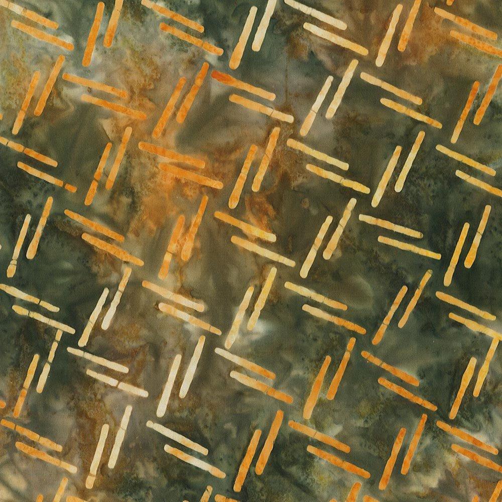CABA-1069 110 - MESH BY SHANIA SUNGA GREEN BROWN ORANGE YELLOW