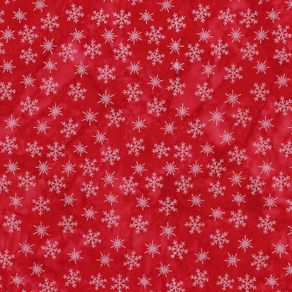 CABA-1097 353MS - TINY SNOWFLAKES BY SHANIA SUNGA RED/SILVER-Delivery October 2020