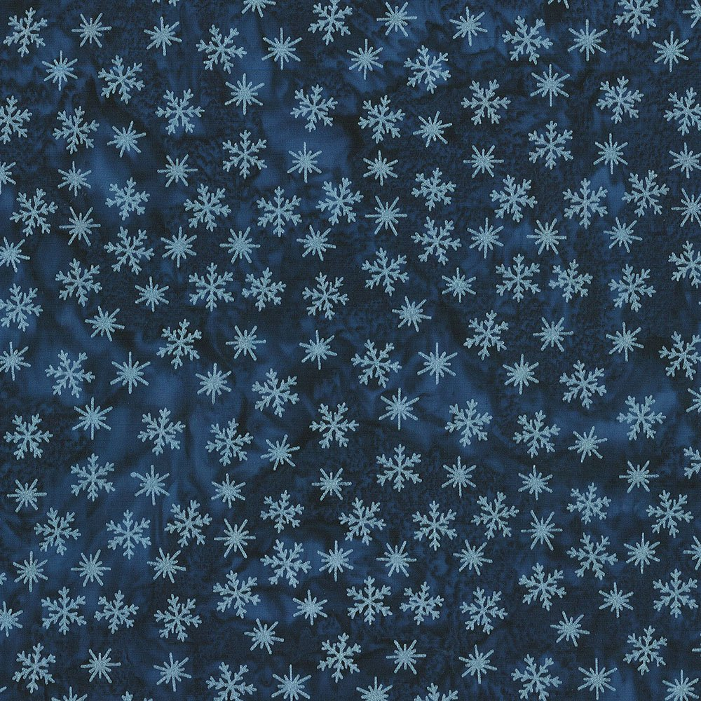 CABA-1097 490MS - TINY SNOWFLAKES BY SHANIA SUNGA NAVY/SILVER-Delivery October 2020