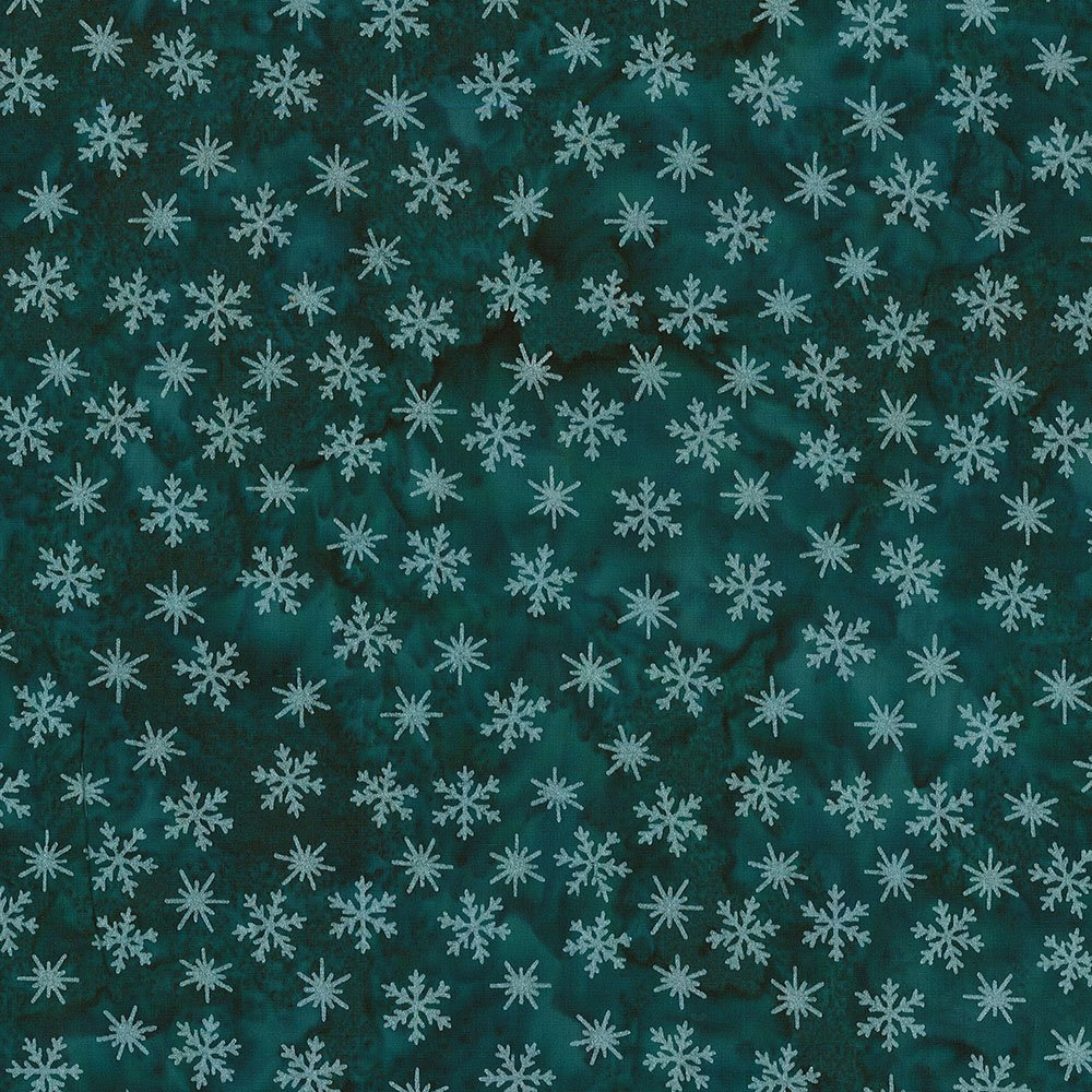 CABA-1097 737MS - TINY SNOWFLAKES BY SHANIA SUNGA TEAL/SILVER-Delivery October 2020