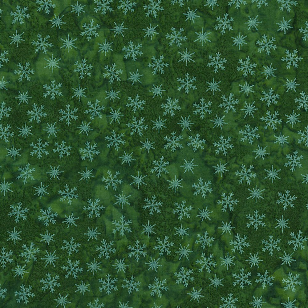 CABA-1097 740MS - TINY SNOWFLAKES BY SHANIA SUNGA GREEN/SILVER-Delivery October 2020