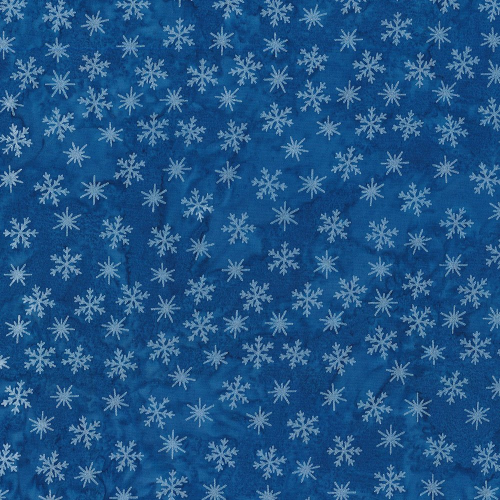 CABA-1097 877MS - TINY SNOWFLAKES BY SHANIA SUNGA BLUE/SILVER-Delivery October 2020