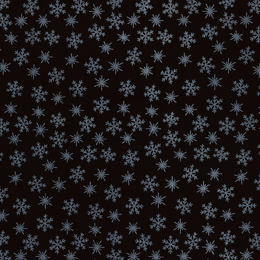 CABA-1097 999MS - TINY SNOWFLAKES BY SHANIA SUNGA BLACK/SILVER-Delivery October 2020