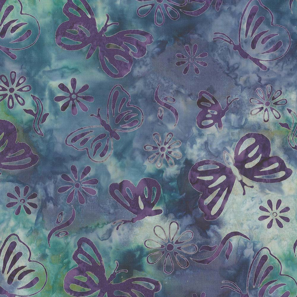 CABA-1100 738 - BUTTERFLY SUMMER BY SHANIA SUNGA TURQUOISE PURPLE - ARRIVING IN JULY 2021