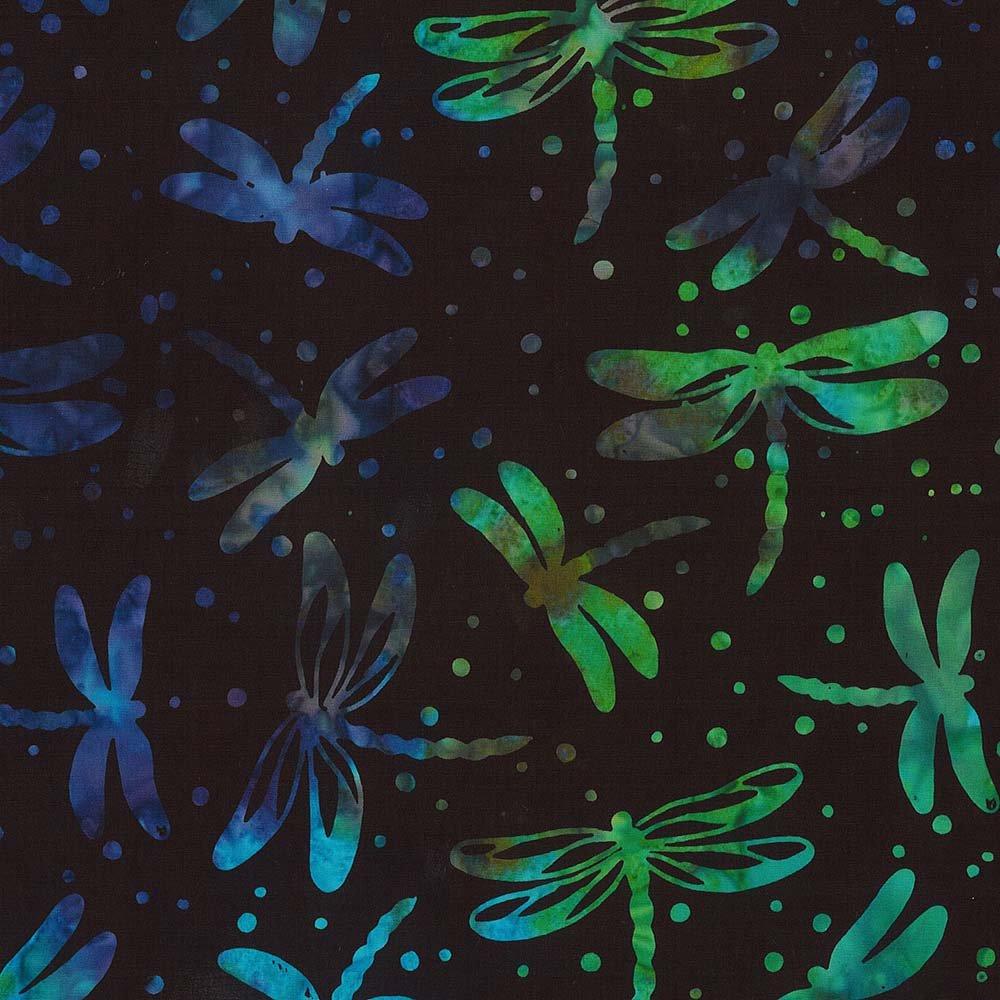 CABA-1101 999 - DRAGONFLY SUMMER BY SHANIA SUNGA BLACK BLUE PURPLR GRN BRN - ARRIVING IN JULY 2021