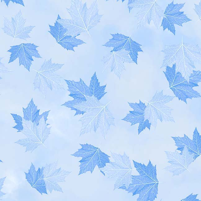CASS-DC5012 B631 - BREEZE BY SHANIA SUNGA MAPLE LEAVES LT BLUE - ARRIVING IN MAY 2021