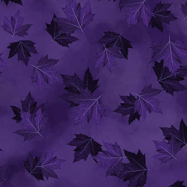 CASS-DC5012 L591 - BREEZE BY SHANIA SUNGA MAPLE LEAVES DK PURPLE - ARRIVING IN MAY 2021