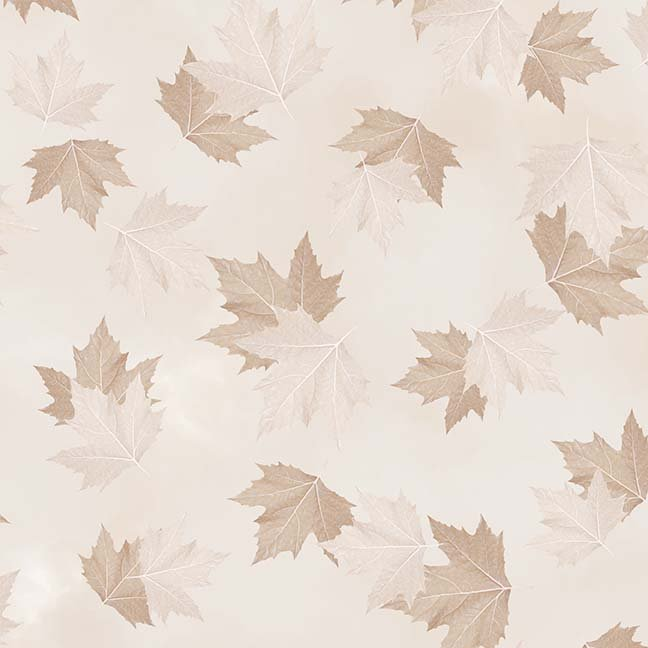 CASS-DC5012 N129 - BREEZE BY SHANIA SUNGA MAPLE LEAVES LT BROWN - ARRIVING IN MAY 2021