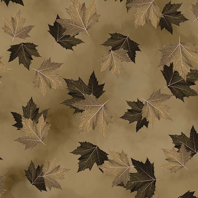 CASS-DC5012 N187 - BREEZE BY SHANIA SUNGA MAPLE LEAVES BROWN - ARRIVING IN MAY 2021