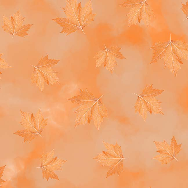 CASS-DC5012 R312 - BREEZE BY SHANIA SUNGA MAPLE LEAVES ORANGE - ARRIVING IN MAY 2021