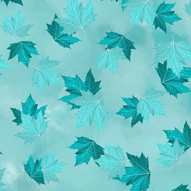 CASS-DC5012 T777 - BREEZE BY SHANIA SUNGA MAPLE LEAVES LT TURQUOISE - ARRIVING IN MAY 2021