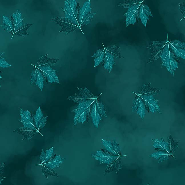 CASS-DC5012 T792 - BREEZE BY SHANIA SUNGA MAPLE LEAVES DK TURQUOISE - ARRIVING IN MAY 2021