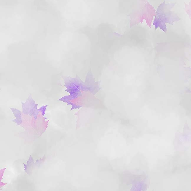 CASS-DC5013 A050 - MISTY BY SHANIA SUNGA CLOUDS & LEAVES GREY PURPLE PINK - ARRIVING IN MAY 2021