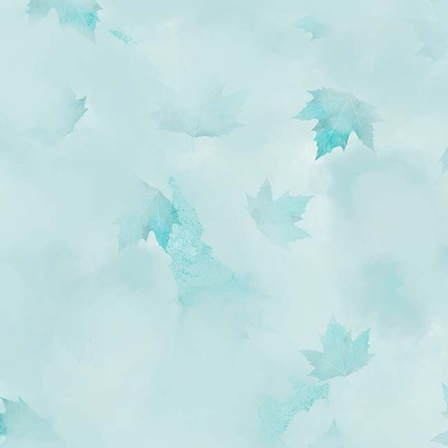 CASS-DC5013 T768 - MISTY BY SHANIA SUNGA CLOUDS & LEAVES LT TURQUOISE - ARRIVING IN MAY 2021