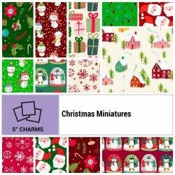 CHMI-005X5 - CHRISTMAS MINIATURES 5 SQUARES BY P&B BOUTIQUE 42PCS