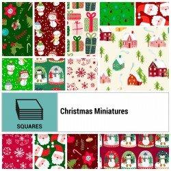 CHMI-10X10 - CHRISTMAS MINIATURES 10 SQUARES BY P&B BOUTIQUE 42PCS