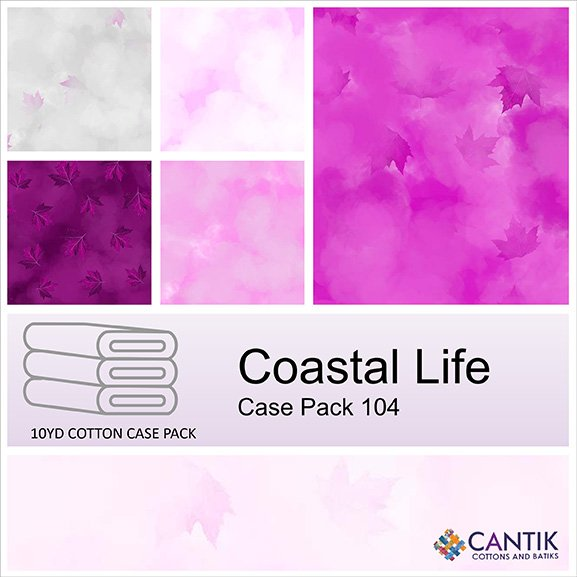 CASS-CPFB08 104 - COASTAL LIFE CASE PACK BY SHANIA SUNGA 7 PCS 9.1 MT BOLTS PINK- DELIVERY DECEMBER 2021