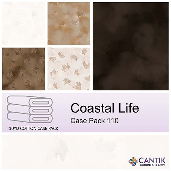 CASS-CPFB06 110 - COASTAL LIFE CASE PACK BY SHANIA SUNGA 6 PCS 10YD BOLTS BROWN - ARRIVING IN FEBRUARY 2022