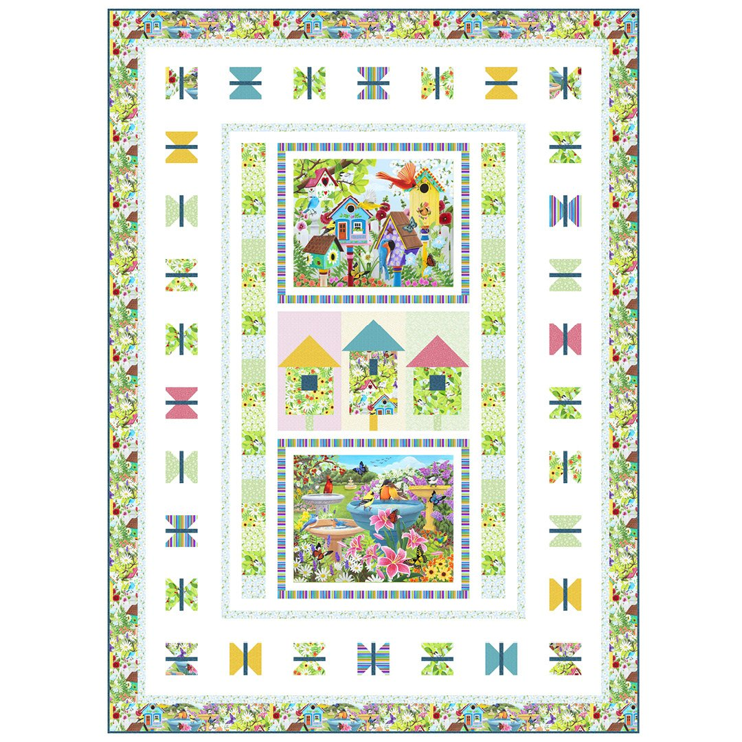 CSMD-KSWIN - SPRING'S WINGS QUILT KIT 66 x 90 - ARRIVING IN JANUARY 2022