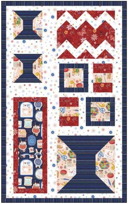 CSMD-KSWLOVE ORG - SEWING NOTION POCKET ORGANIZER QUILT KIT 26x42 - ARRIVING IN MARCH 2022