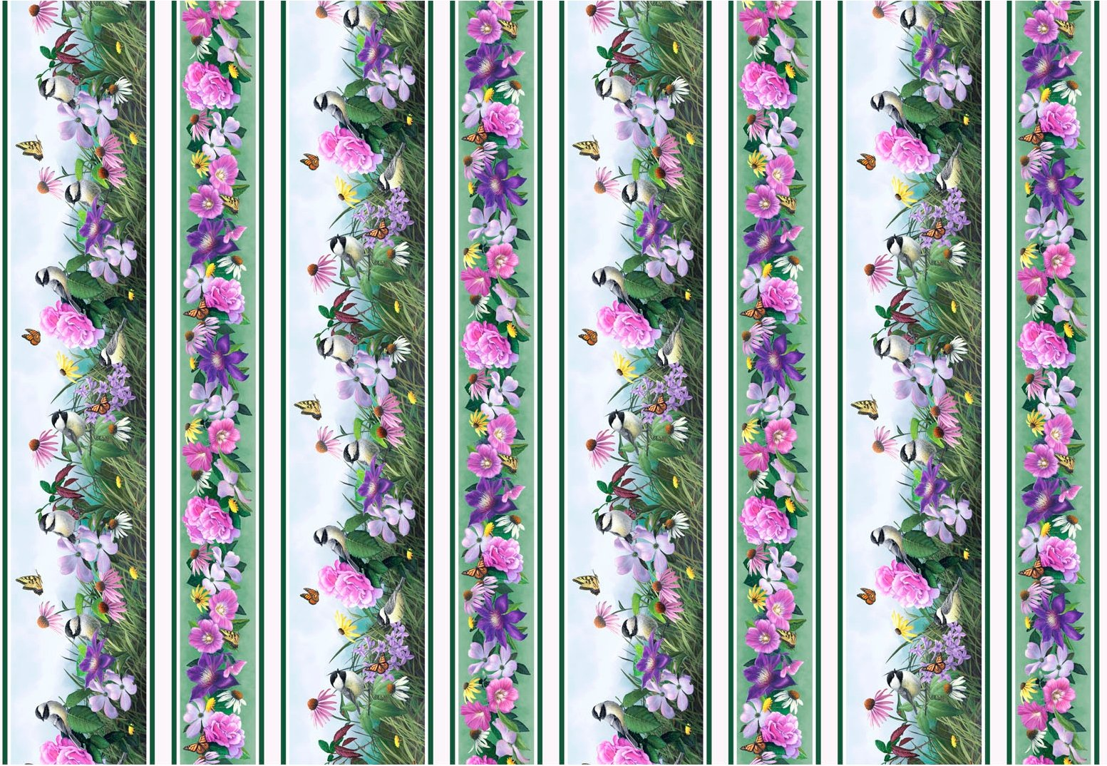 CSON-4494 MU - CHICKADEE SONGS DIGITAL BY LARISA MARTINO STRIPE MULTI - ARRIVING IN AUGUST 2021