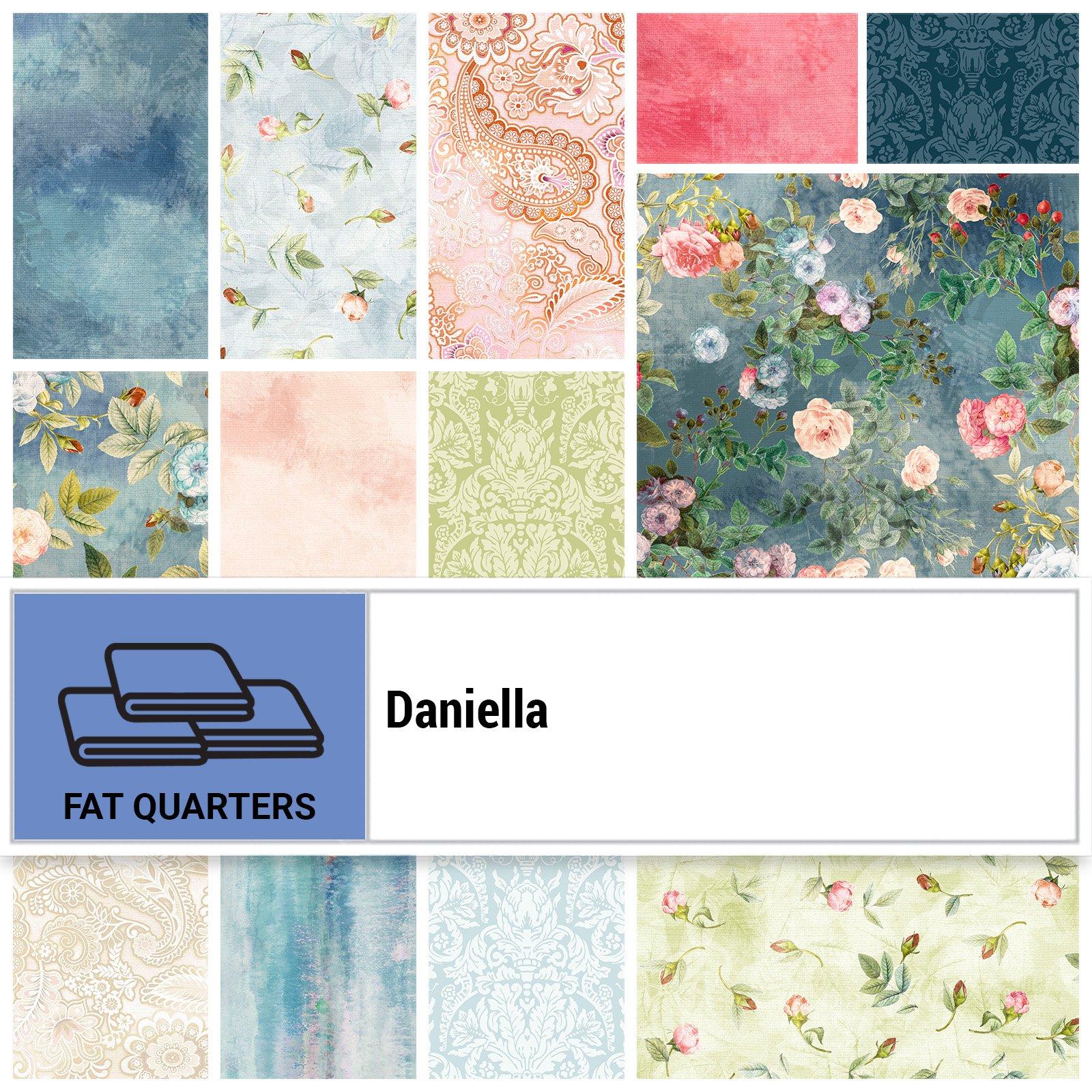 DANI-18X22 - DANIELLA FAT QUARTER BUNDLE BY P&B BOUTIQUE 14PCS - ARRIVING IN OCTOBER 2021