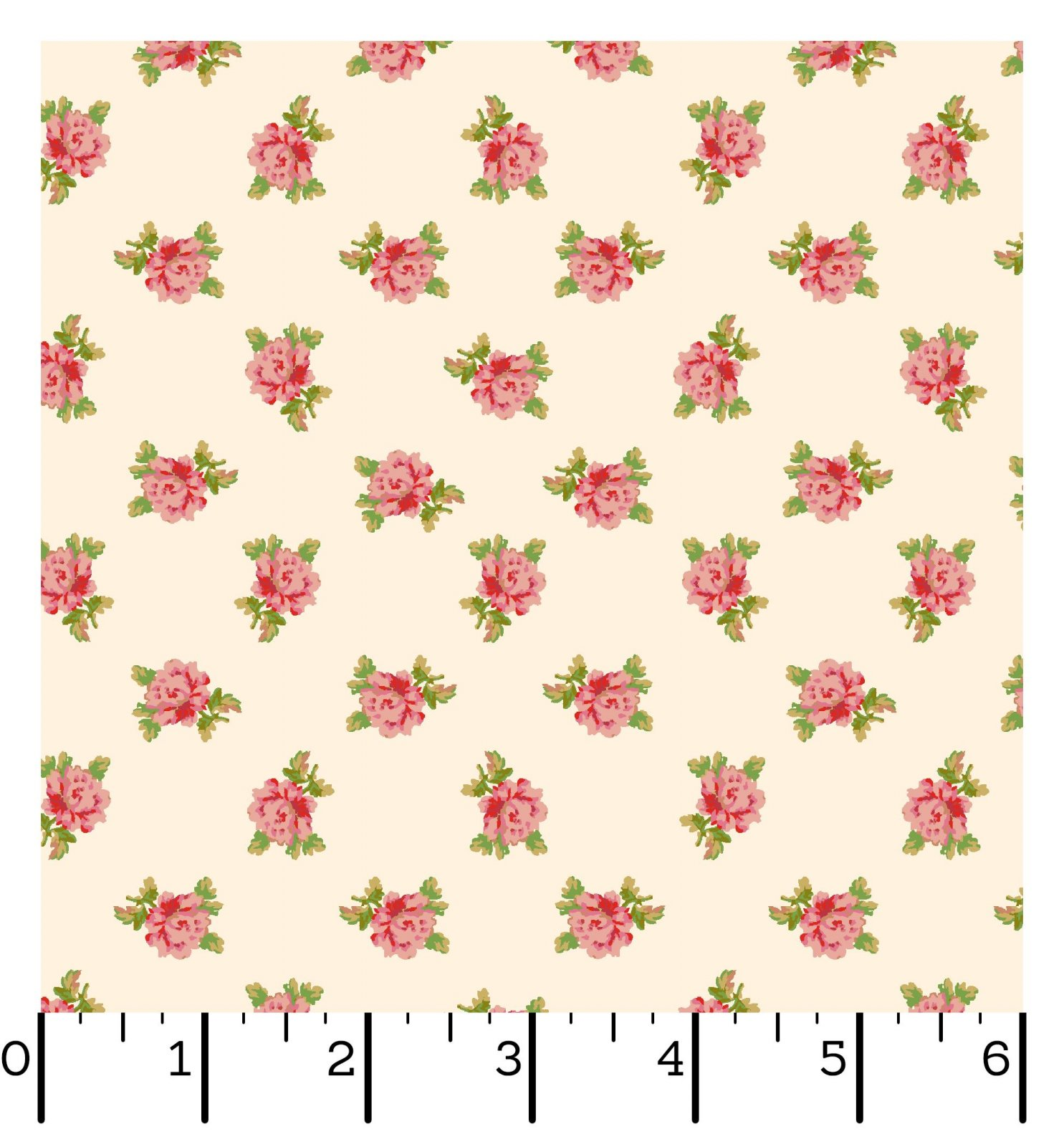 EESC-10013 E - SWEET BEGINNINGS BY JERA BRANDVIG SPACED FLORAL CREAM - ARRIVING IN JUNE 2021