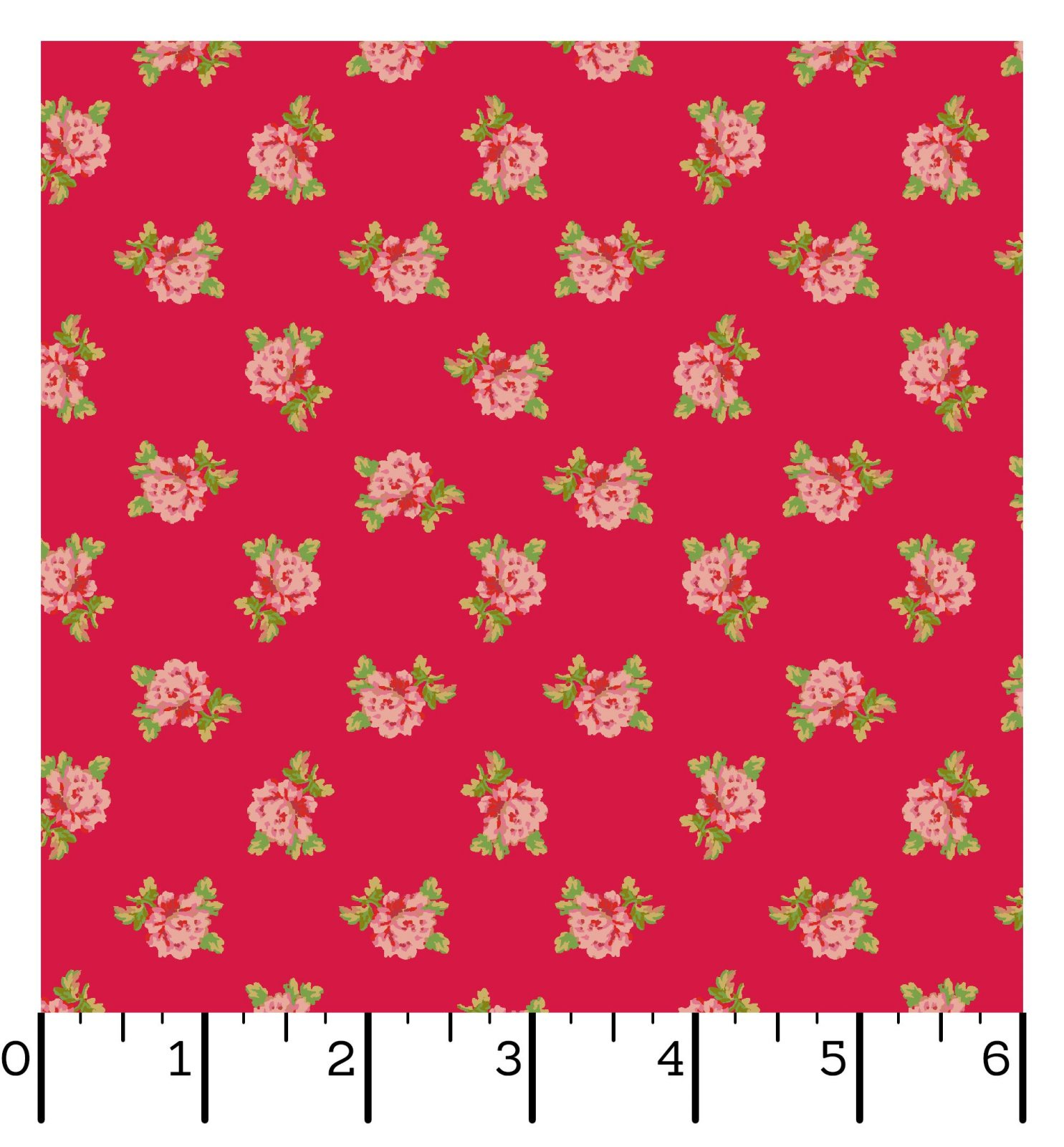 EESC-10013 R - SWEET BEGINNINGS BY JERA BRANDVIG SPACED FLORAL RED - ARRIVING IN JUNE 2021
