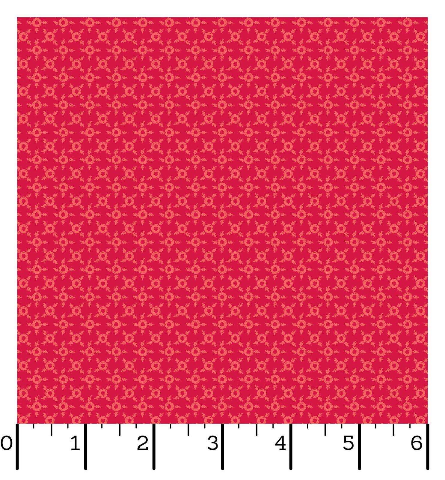 EESC-10016 R - SWEET BEGINNINGS BY JERA BRANDVIG DITSY RED - ARRIVING IN JUNE 2021