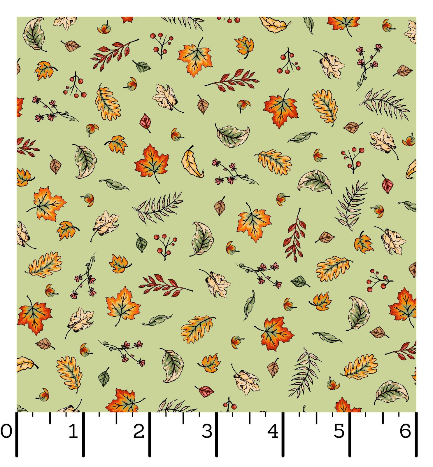 EESC-10035 G - SWEATER WEATHER BY KRIS LAMMERS BLOWING LEAVES GREEN - ARRIVING IN JULY 2021