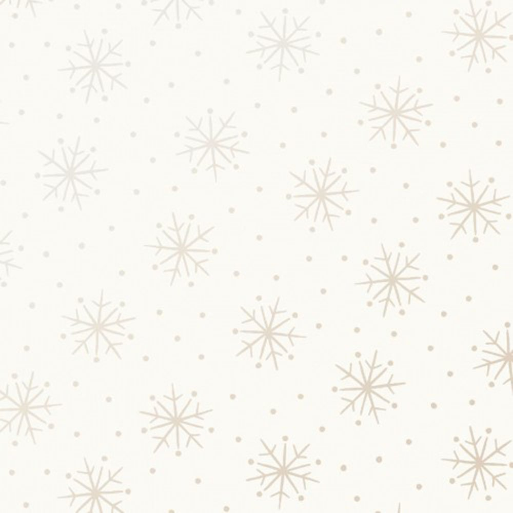 EESC-122 SW - PEARL ESSENCE BY MAYWOOD SIMPLE SNOWFLAKES PEARL ON SOFT WHITE