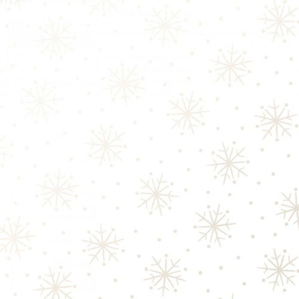 EESC-122 UW - PEARL ESSENCE BY MAYWOOD SIMPLE SNOWFLAKES PEARL ON ULTRA WHITE