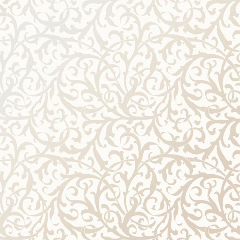 EESC-125 SW - PEARL ESSENCE BY MAYWOOD INTERTWINED SCROLL PEARL ON SOFT WHITE
