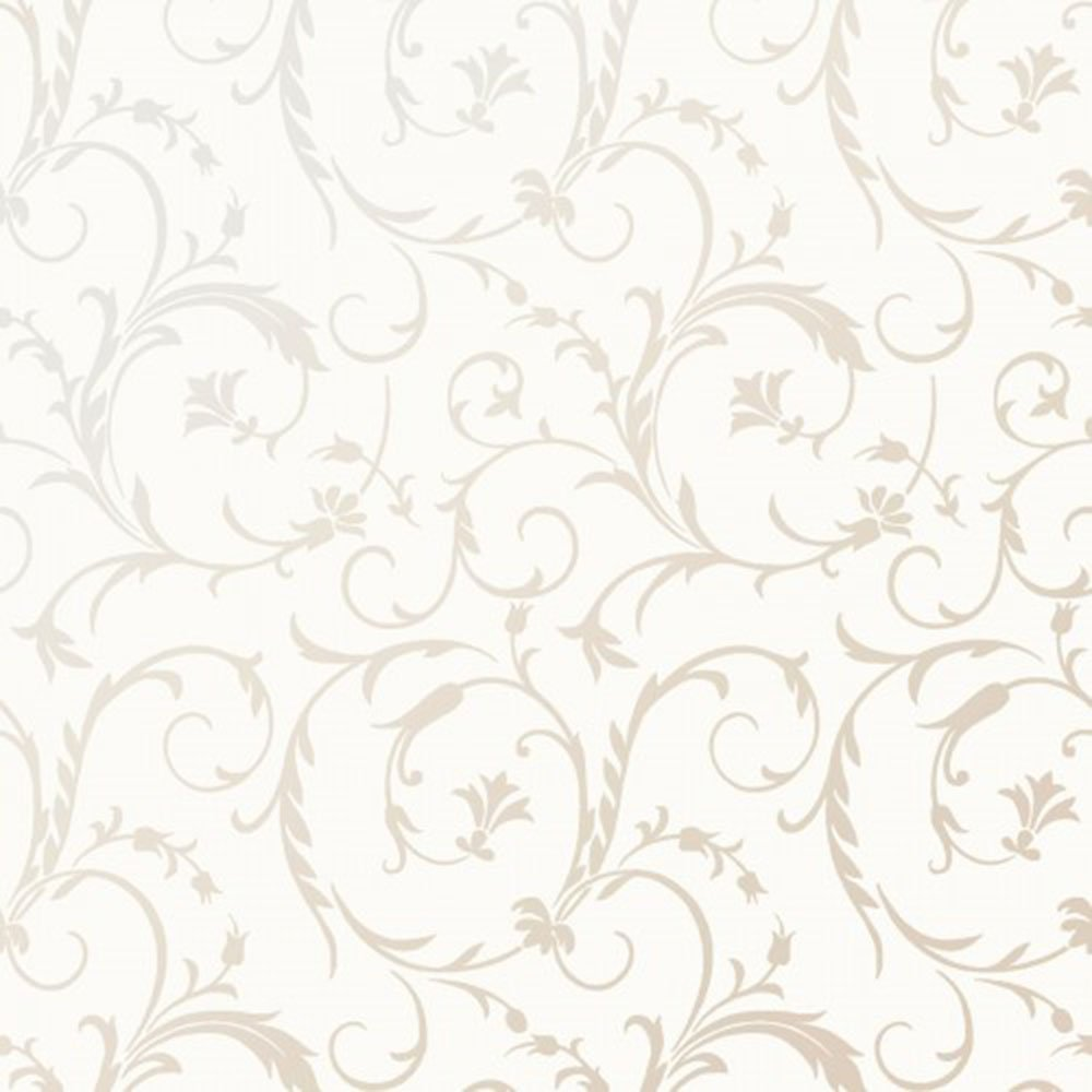EESC-127 SW - PEARL ESSENCE BY MAYWOOD SCROLL PEARL ON SOFT WHITE