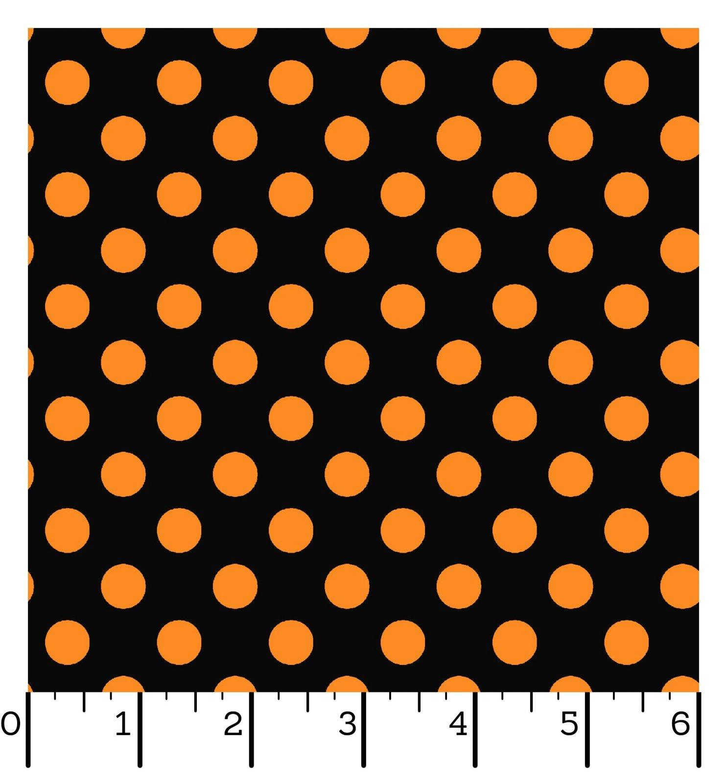 EESC-8216 JO - HOMETOWN HALLOWEEN BY KIMBERBELL DOTS BLACK/ORANGE - ARRIVING IN JULY 2021