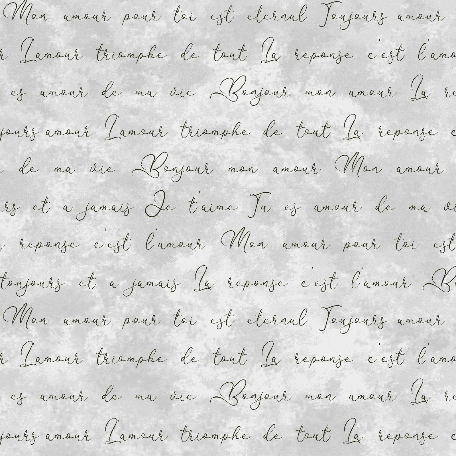 EESC-9728 K - AMOUR BY MONIQUE JACOBS ROMANTIC WORDS GRAY