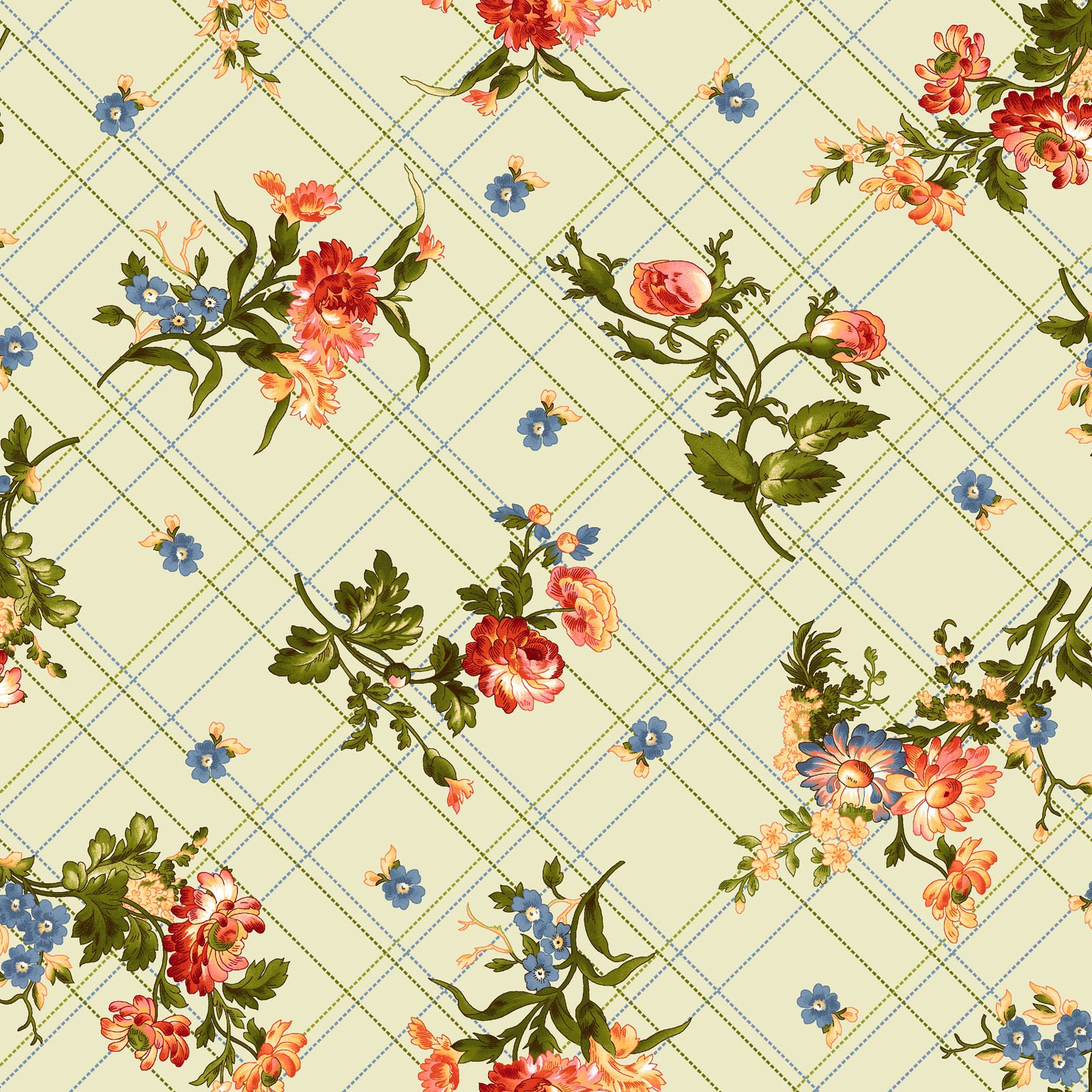 EESC-9874 G - BELLE EPOQUE BY MAYWOOD STUDIO BIAS PLAID FLORAL GREEN - ARRIVING JANUARY 2021
